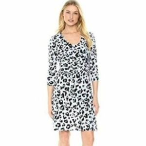 ELLEN TRACY Women's Elbow Sleeve Side Twist Dress,